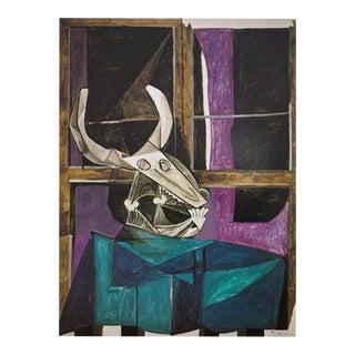 Picasso Nature Morte Au Crâne De Bœuf Photogravure, 1971