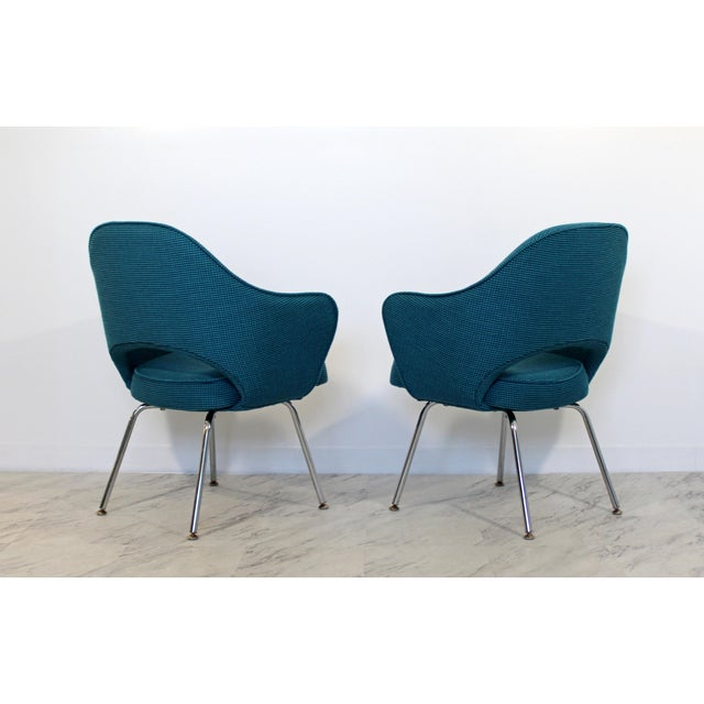 1960s Mid Century Modern Saarinen Knoll Sculptural Executive Office Chairs 1960s - A Pair For Sale - Image 5 of 7