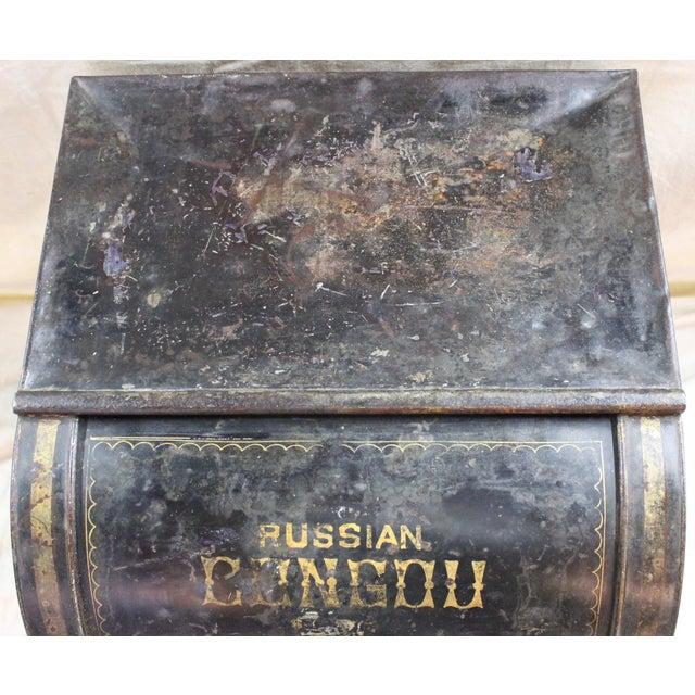 Antique Tea Bin/Side Table For Sale - Image 4 of 13
