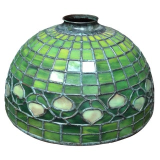 Tiffany Shade in Green Vine Pattern