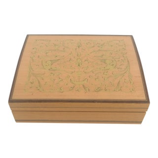 Italian Satinwood Stacking Boxes - Set of 4 For Sale