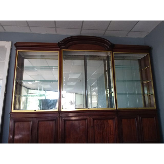 Antique Rosewood Shop Display Case With Miiror and Glass For Sale In San Antonio - Image 6 of 11