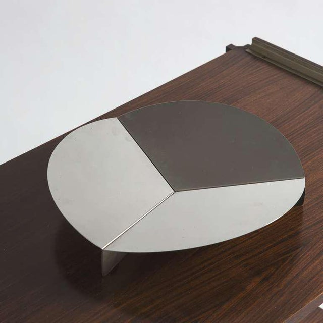 Modern Steel Centerpiece by Grignani for Luci For Sale - Image 3 of 8