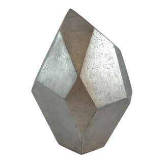 Curated Kravet Wise Sculpture - Silver For Sale