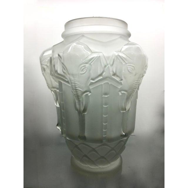 Frosted Art Deco Elephant Vase Chairish