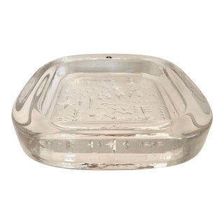 Vintage Swedish Glass Catchall For Sale