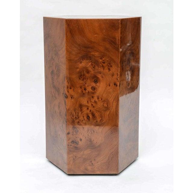 Hexagonal Burl Wood Pedestals - Set of 3 For Sale In Miami - Image 6 of 10