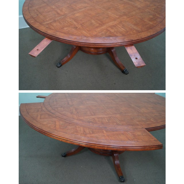 Guy Chaddock Parquet Top Extension Dining Table - Image 6 of 10