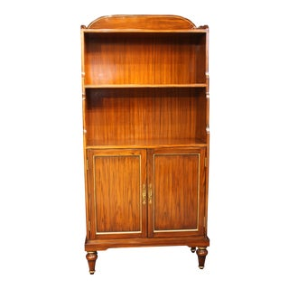 Regency Julia Gray Bookcase With Two Front Doors For Sale