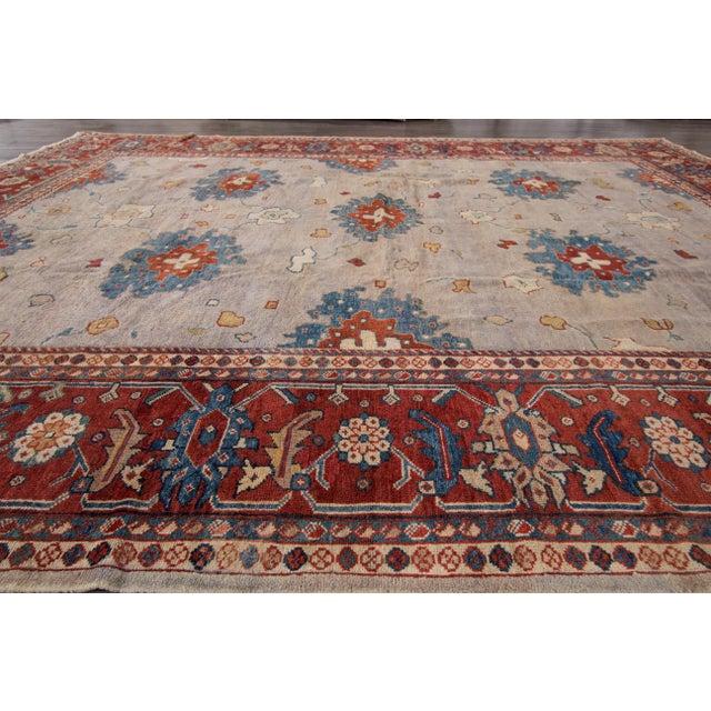 Apadana - Antique Persian Mahal Rug, 9' x 11' For Sale - Image 5 of 7
