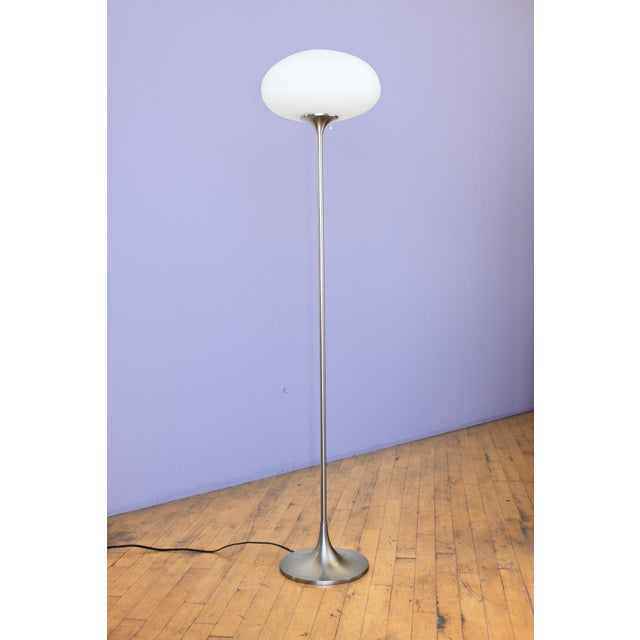 """Iconic Model #T-823 """"Mushroom"""" floor lamp by Laurel Lamp Company. MCM space age design at its most iconic. Shown unlit and..."""