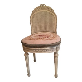 1960s French Aubusson Style Chair For Sale