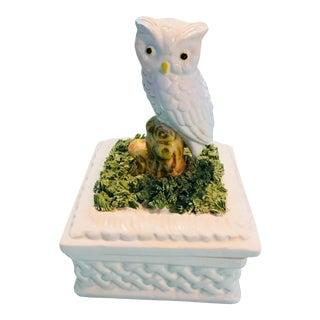 Vintage Italian Owl Trinket Box