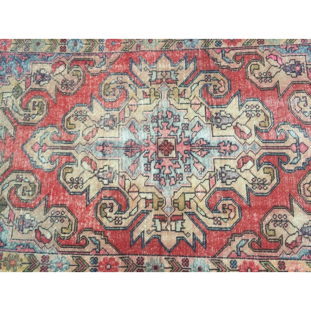 "Vintage Anatolian Floor Wool Rug - 4'8"" x 7'4"" For Sale - Image 4 of 6"