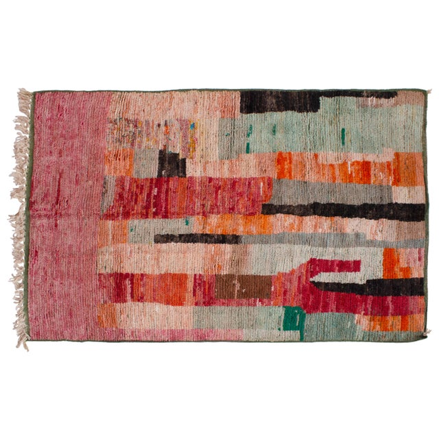 """Late 20th Century Moroccan Berber Wool Rug- 7'11""""x5'8"""" For Sale - Image 5 of 5"""