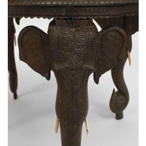Asian Asian Burmese Style Ebony Low Center Table For Sale - Image 3 of 12