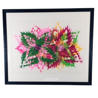 """1970s Abstract Silkscreen, """"Pinwheel Poetry"""" by Laura H. Huff For Sale"""
