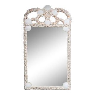 Custom Mirror with Shell-Encrusted Frame For Sale