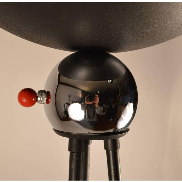 """Metal Mid Century Tripod Torchiere Floor Lamp by """"Keystone"""" For Sale - Image 7 of 8"""