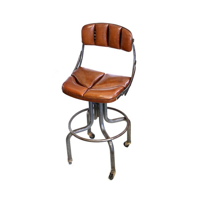 Vintage Brown Task Chair - Image 1 of 7