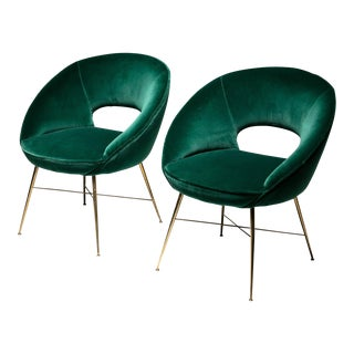 Pair of Italian 50s Easy Chairs