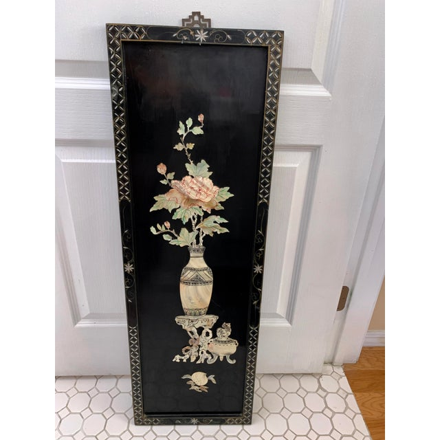 Midcentury Mother of Pearl Asian Chinoiserie Wall Accent For Sale - Image 13 of 13