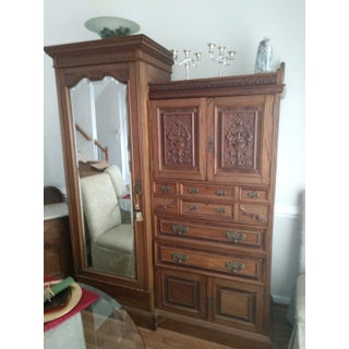 Late 19th Century Antique Armoire For Sale