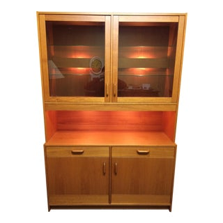 Clausen & Son Teak Hutch With 2-Way Lighting