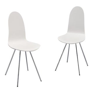 1970s Arne Jacobsen for Fritz Hansen Tongue Chairs- A Pair For Sale