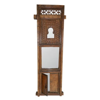 Indian Architectural Window Frame Mirror For Sale