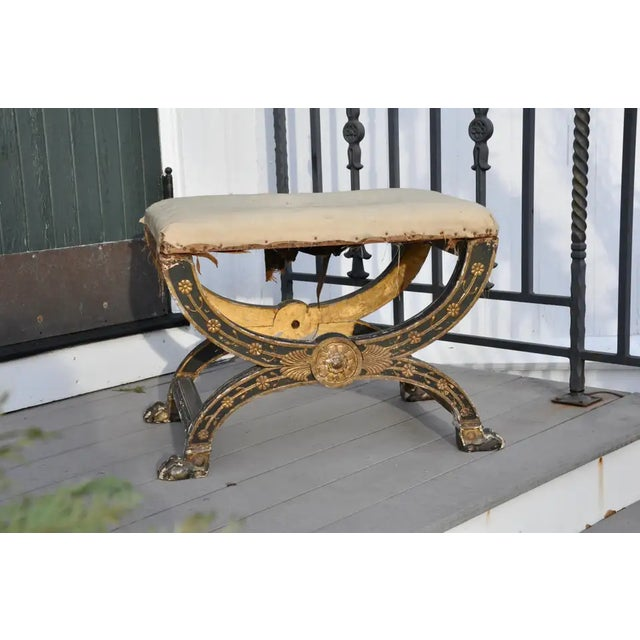 Period French Empire Tabouret or Ployant Ordered for the Tuileries Palace under the Reign of Napoleon Bonaparte. Folding...