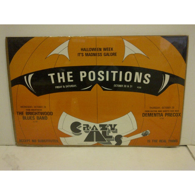 """A vintage concert poster for """"The Positions"""" Halloween Week, October 30 & 31, 1981. Copyright 1981–Serigraphics. The..."""