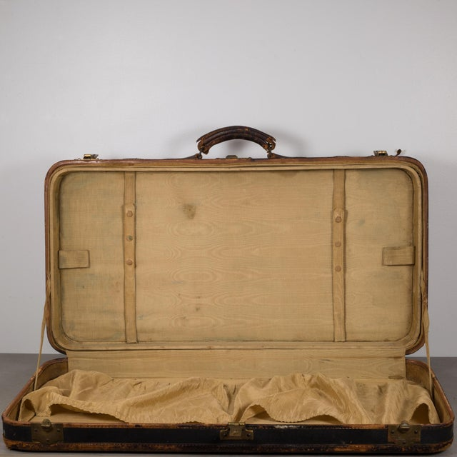 Antique Luggage With Original Travel Stickers C.1900-1930 For Sale In San Francisco - Image 6 of 11