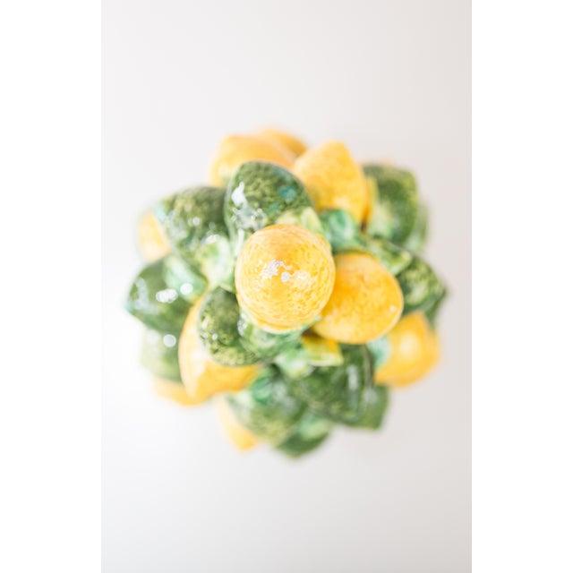 Vintage Italian Majolica Lemon & Lime Topiary For Sale - Image 4 of 7