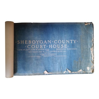 Antique Blueprints of the Sheboygan County Courthouse For Sale