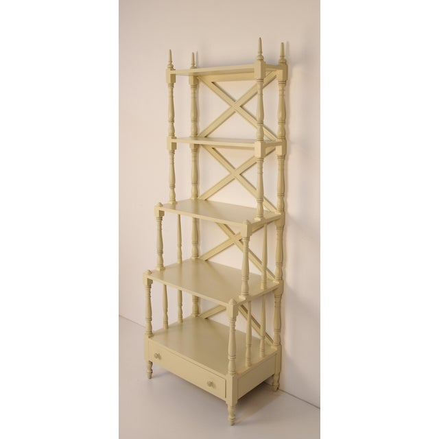 Empire Regency Style Painted 5-Tier Etagere For Sale - Image 3 of 6