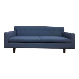 Custom Edward Wormley Style Nautical Blue Sofa