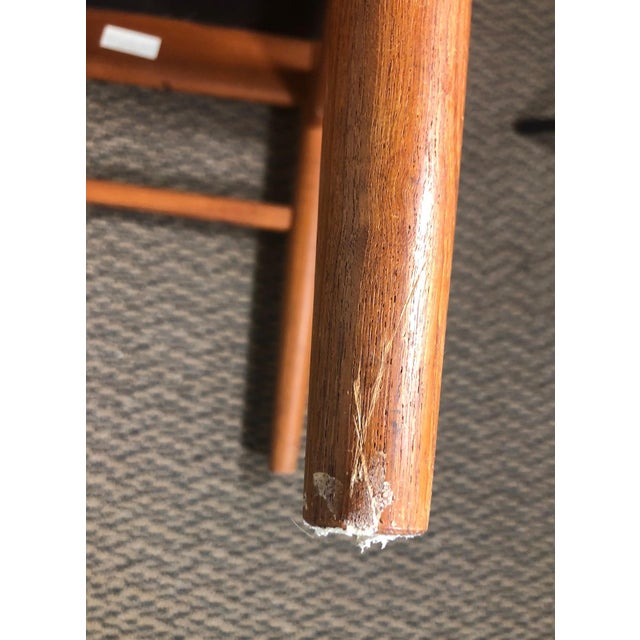 Set of 8 Mid Century Modern Danish Teak Dining Chairs by Benny Linden Slat Back For Sale - Image 12 of 13