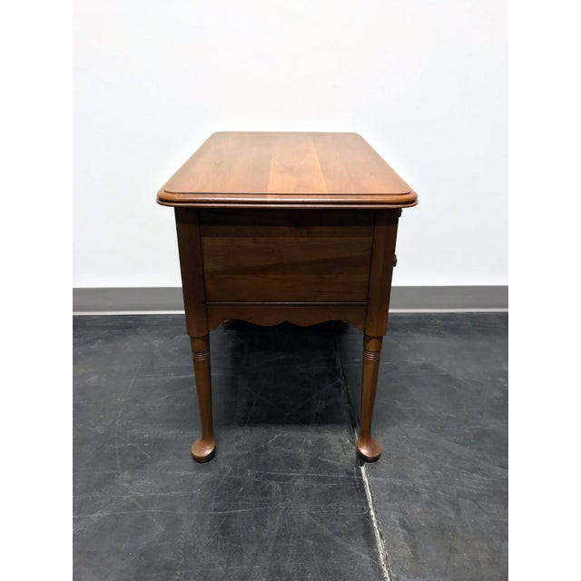 Mid 20th Century Pennsylvania House Cherry Queen Anne Diminutive Lowboy Chest Nightstand For Sale - Image 5 of 11