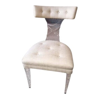 Ultra Rare Art Deco Lucite Grosfeld House Chair by Lorin Jackson For Sale