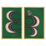 """Image of Medium """"Zuccini the Snake, Set of 2"""" Print by Willa Heart, 26"""" X 20"""" For Sale"""