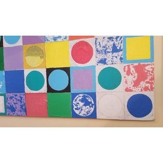 Large Vibrant Memphis Style Color Tile Diagonal Painting Preview