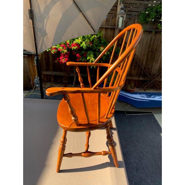 1950s Vintage Original Leopold Stickley Rockport Windsor Armchair For Sale - Image 9 of 13