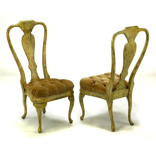 Four Phyllis Morris Oil-Drop Lacquered Queen Anne Chairs - Image 3 of 9