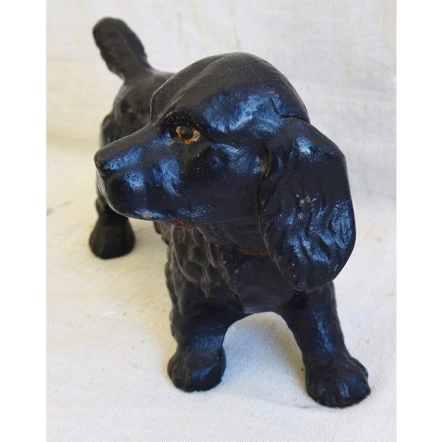 Mid 20th Century Original 1950s Vintage Cast Iron Dog Figure Doorstop For Sale - Image 5 of 9