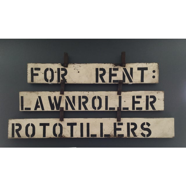 Vintage 'For Rent' Farm Sign - Image 2 of 4