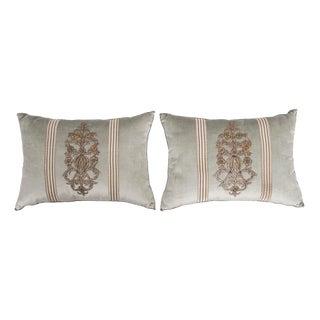 B. Viz Design Antique Empire Textile Pillows - a Pair For Sale