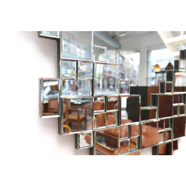 Cubist 1970s Mirror For Sale - Image 4 of 5