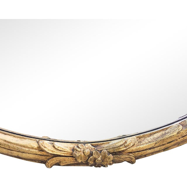 Oversized Hand-Carved Gold Mirror - Image 7 of 10