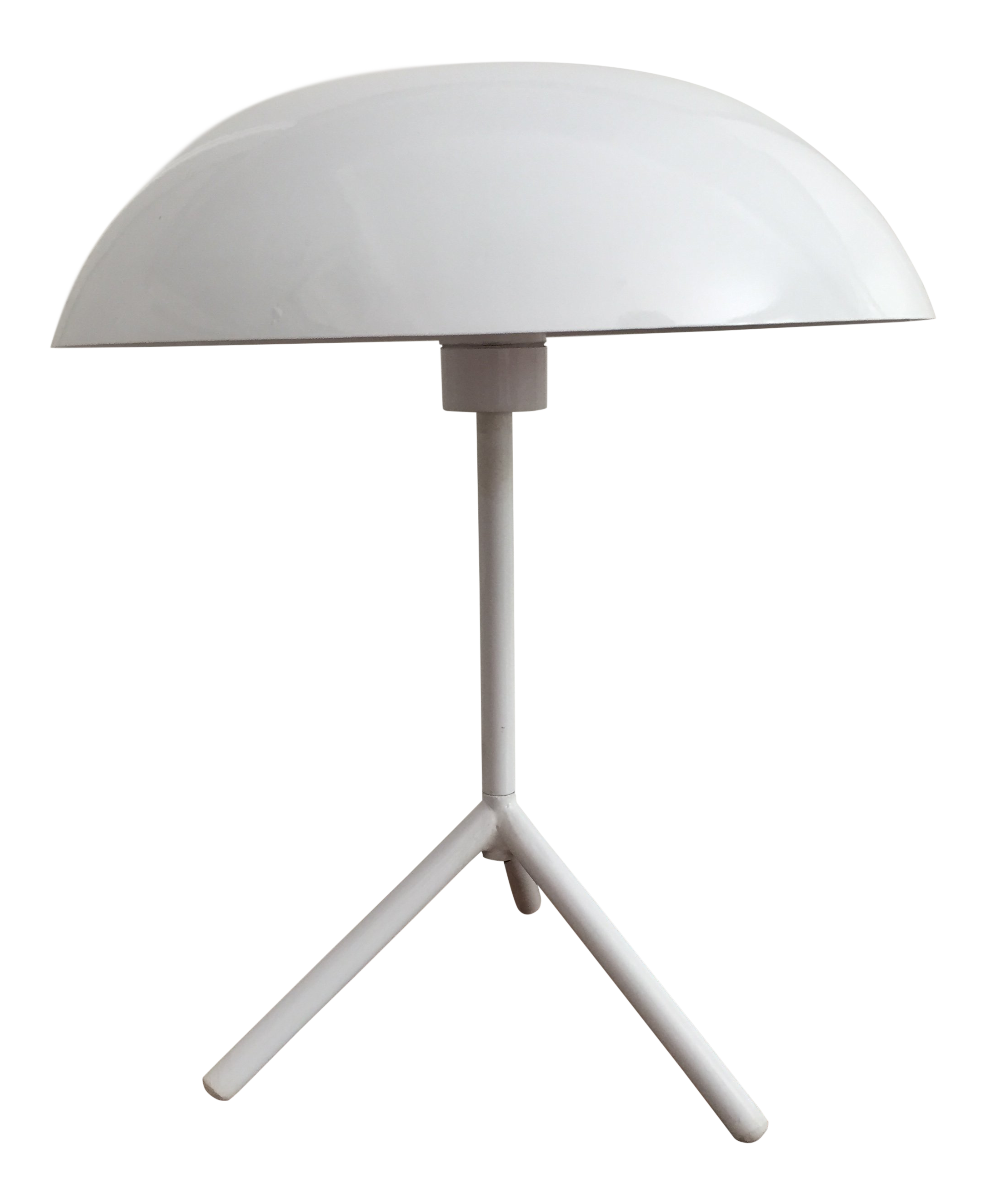 Mid Century Modern White Dome Table Lamp